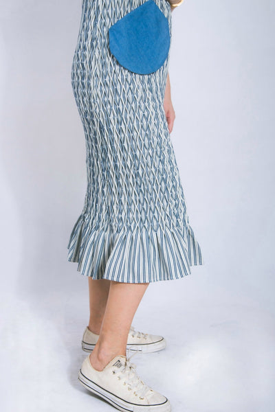 Hand-smocked long dress