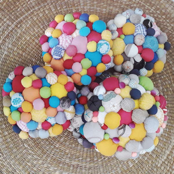Lucky Buttons Floor Pillow - Petite