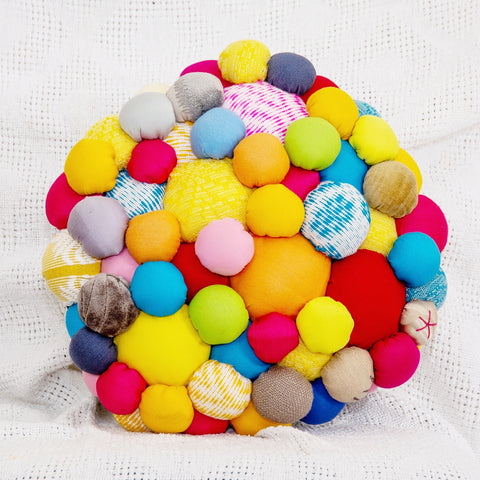 Lucky Buttons Floor Pillow - Petite 2