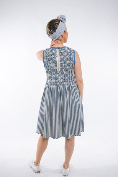 Thelma - striped blue & white