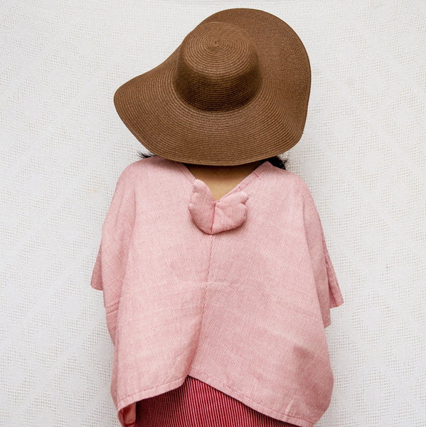 Take Me Away Winged Blouse - light red