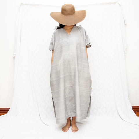 Take Me Away Winged Dress - grey