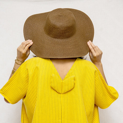 Take Me Away Winged Tunic - yellow stripes