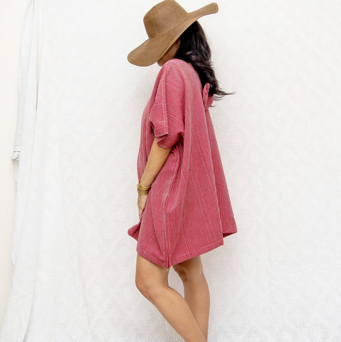 Take Me Away Winged Tunic - red