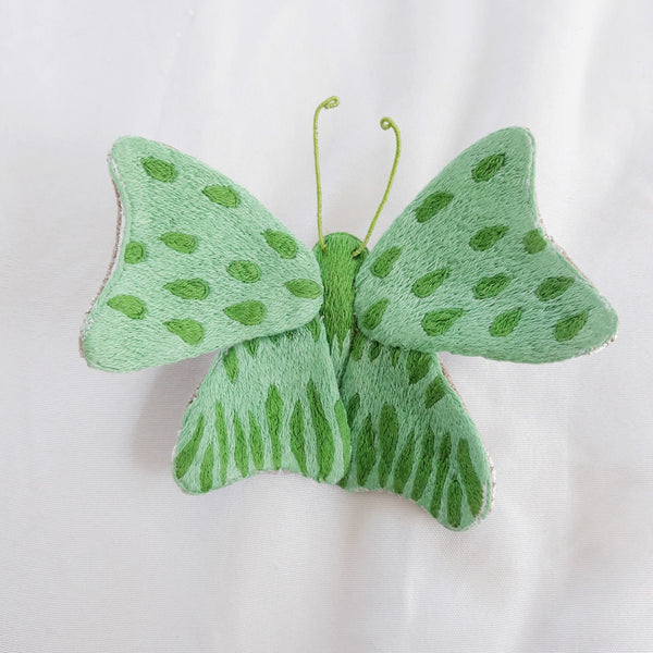 Winged Creature no. 17 - Butterfly Art Brooch