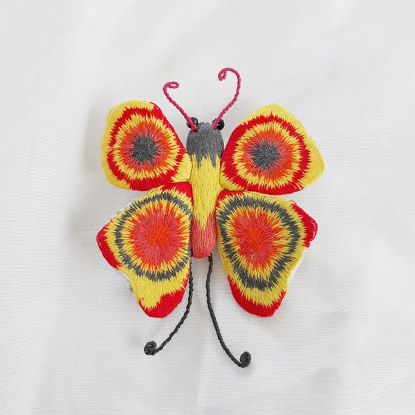 Winged Creature no. 18 - Butterfly Art Brooch