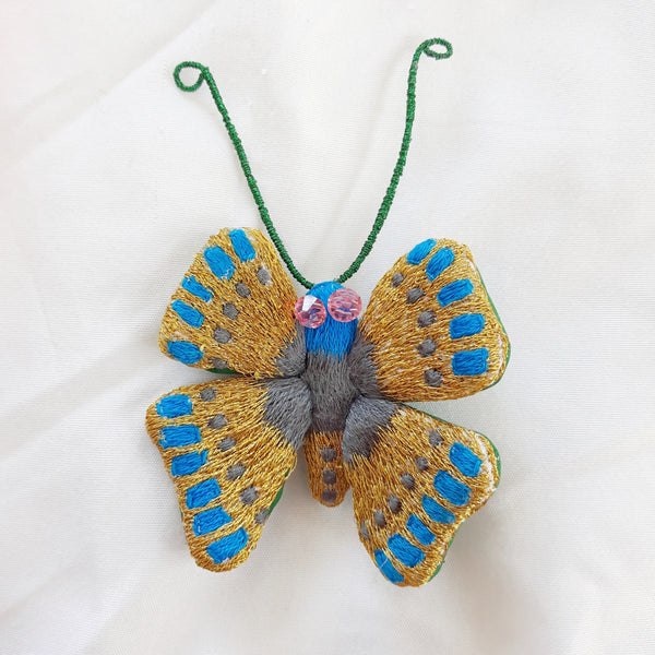 Winged Creature no. 22 - Butterfly Art Brooch