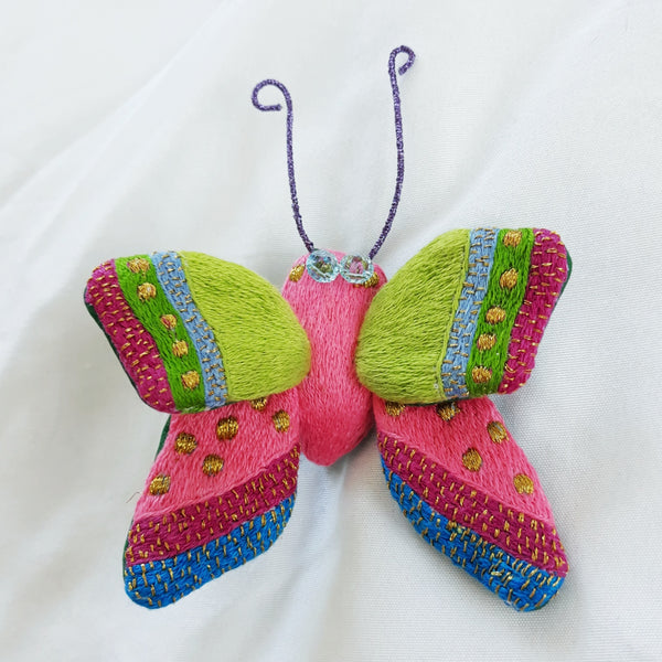 Winged Creature no. 24 - Butterfly Art Brooch