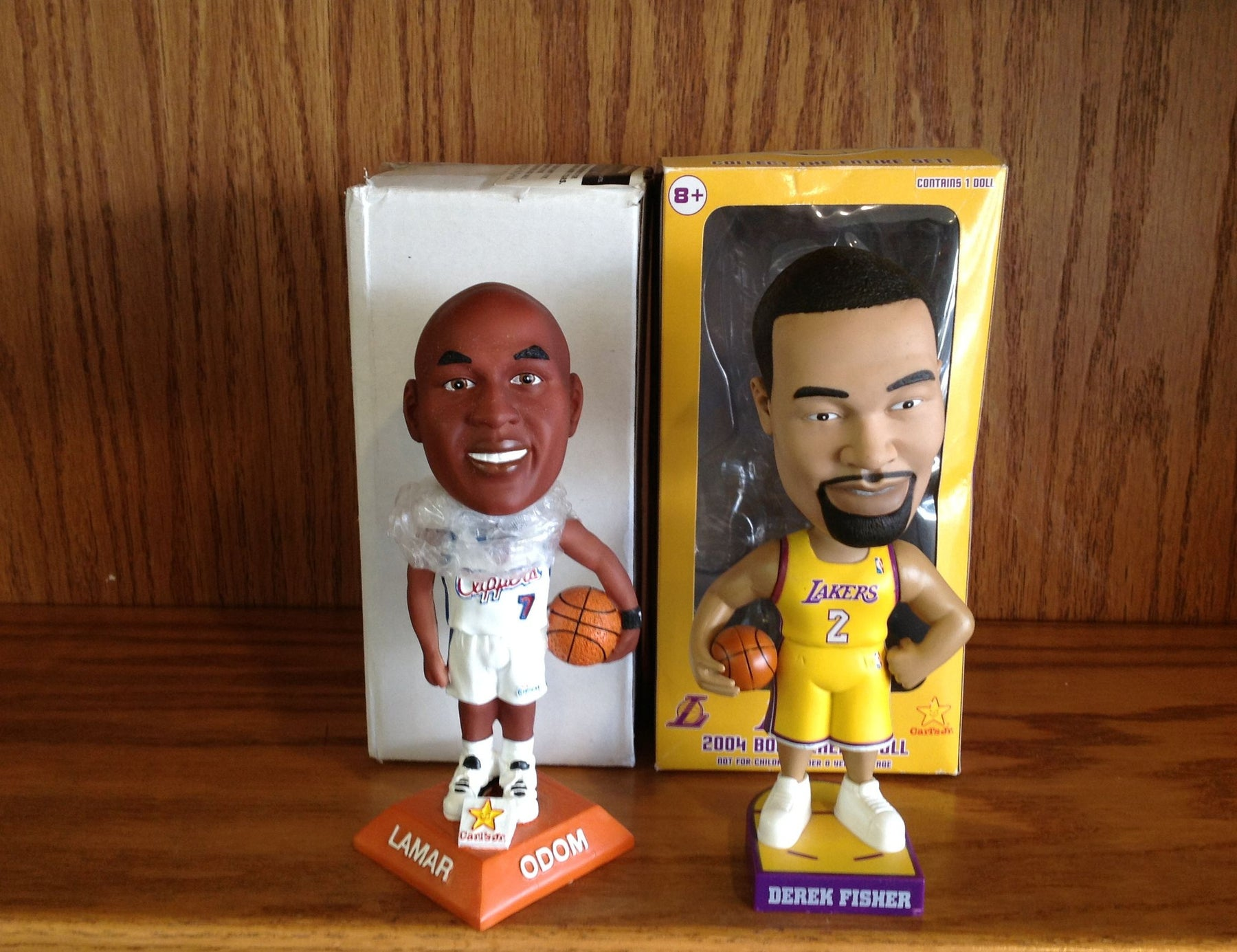 Derek Fisher and Lamar Odom Bobblehead Set - BobblesGalore