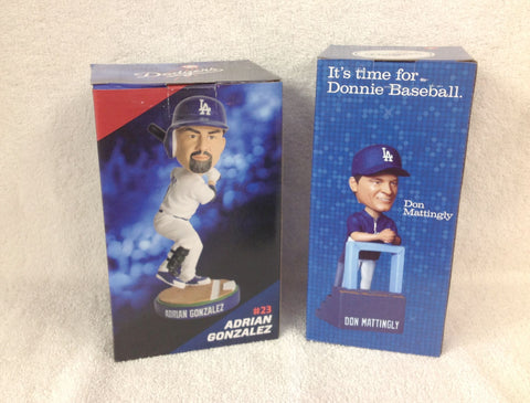 Adrian Gonzalez Don Mattingly Bobblehead set