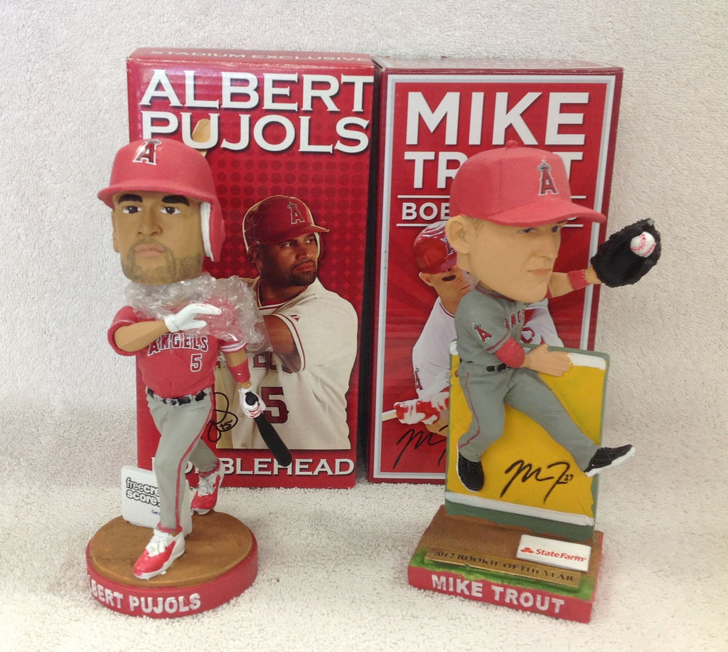 Mike Trout and Albert Pujols Bobblehead Set - BobblesGalore
