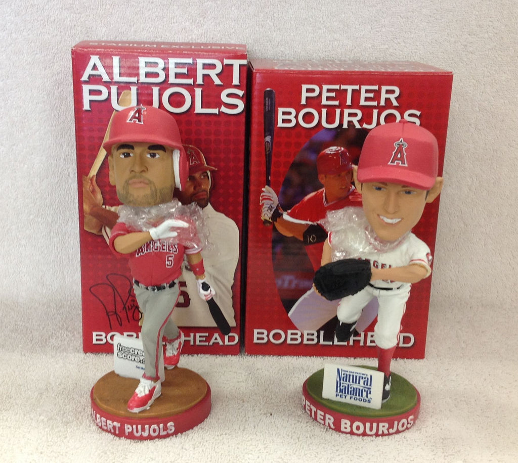 Albert Pujols and Peter Bourjos Bobblehead Set - BobblesGalore