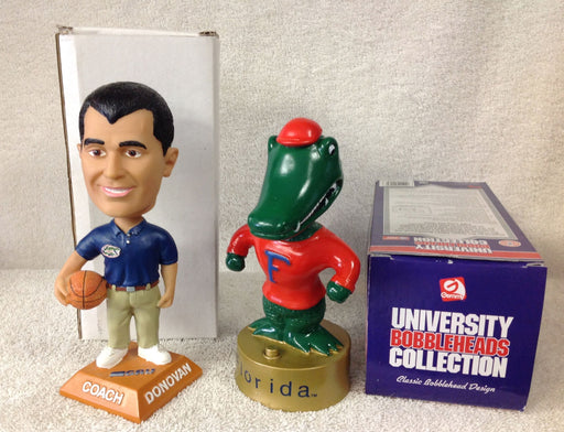 Billy Donovan and Florida Gators Mascot Bobblehead Set - BobblesGalore