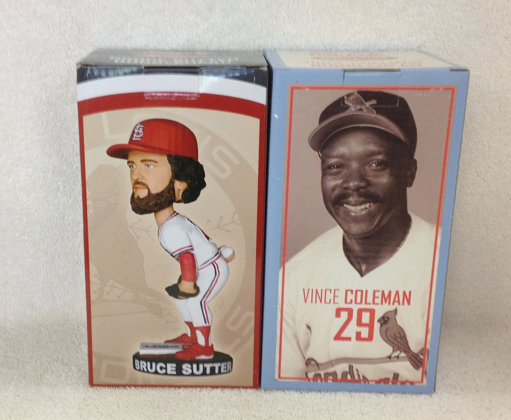 Bruce Sutter and Vince Coleman Bobblehead Set