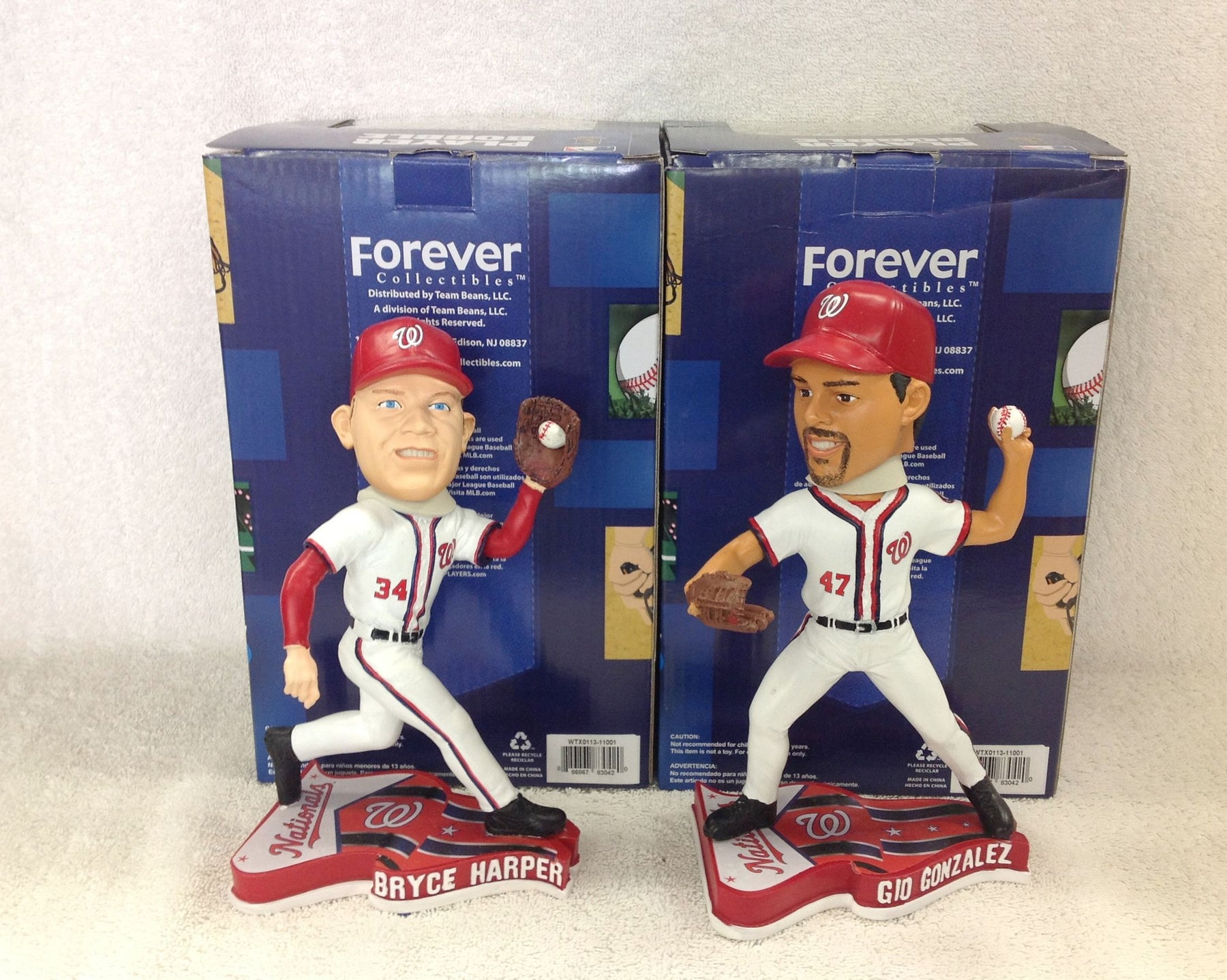 Bryce Harper and Gio Gonzalez Bobblehead Set - BobblesGalore