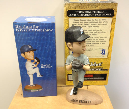 Clayton Kershaw Josh Beckett Bobblehead Set - BobblesGalore