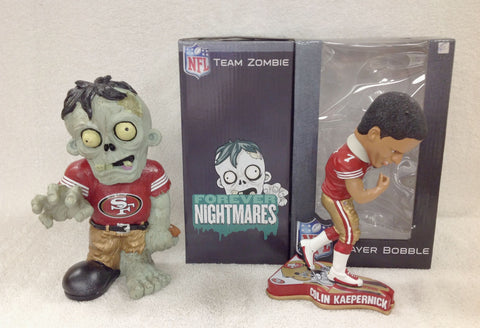 Colin Kaepernick Bobblehead and 49ers Zombie - BobblesGalore