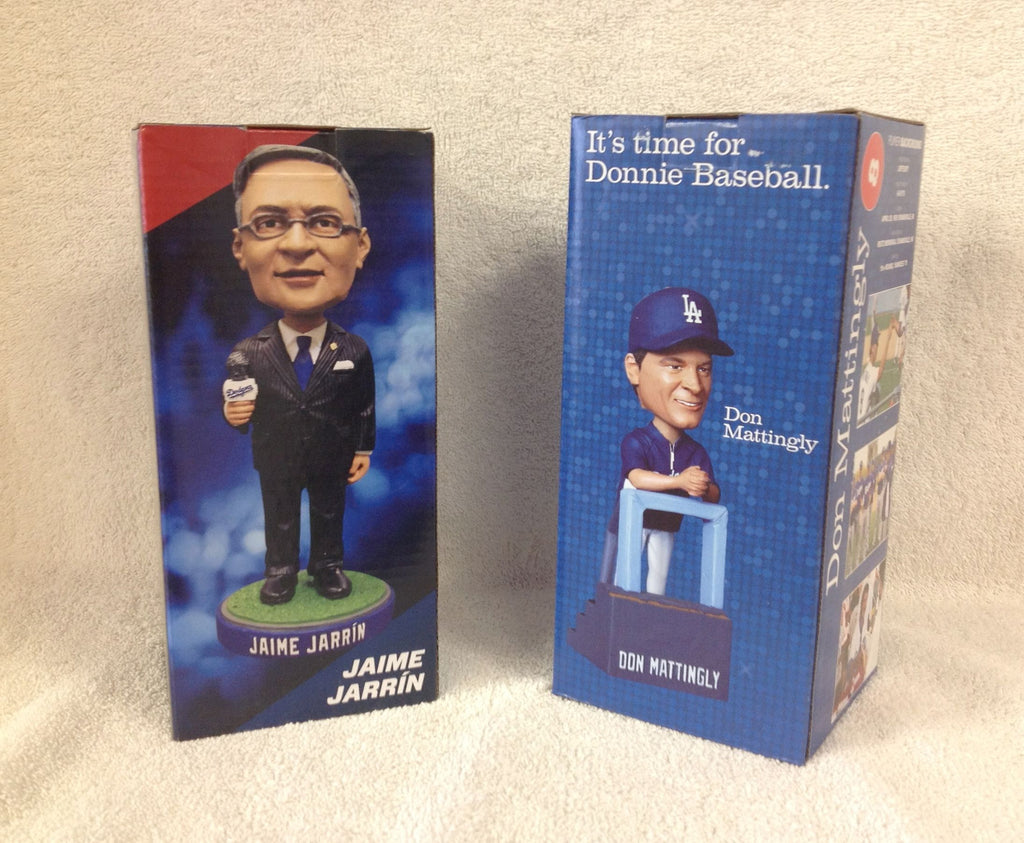 Jaime Jarrin and Don Mattingly Bobblehead Set - BobblesGalore