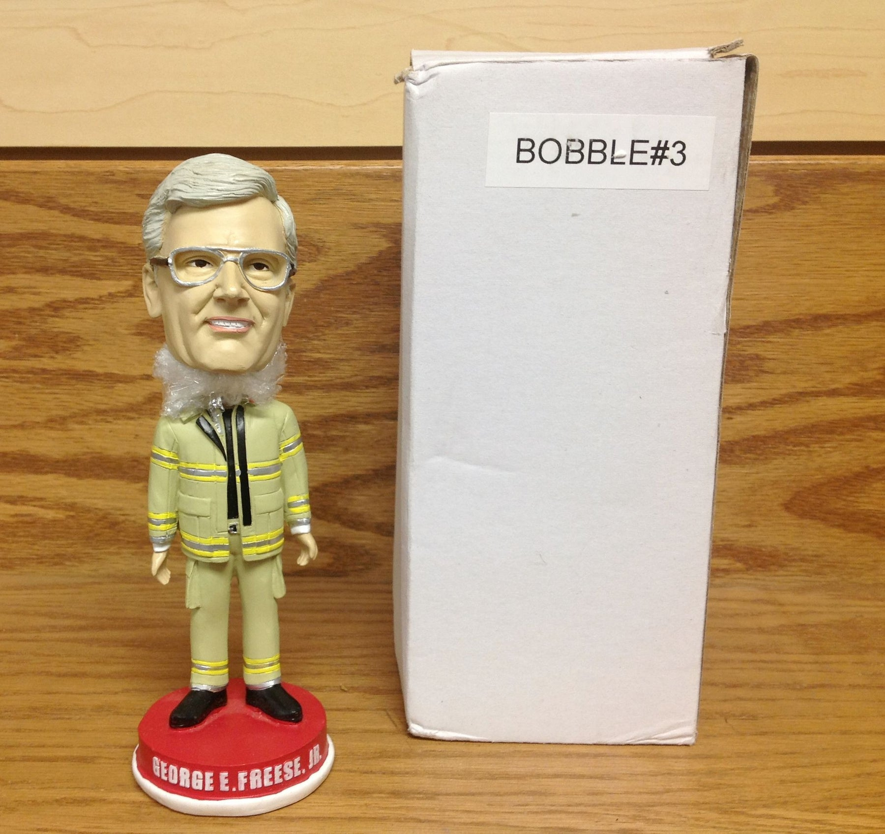 George Freese Firefighter Suit Bobblehead - BobblesGalore