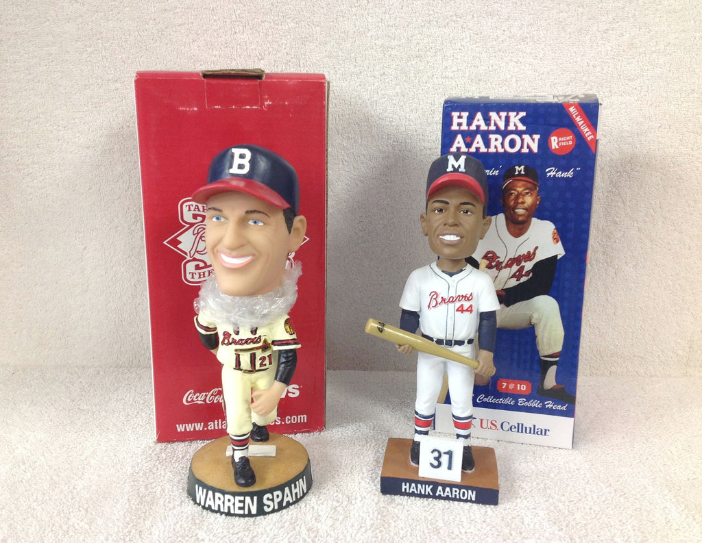 Hank Aaron and Warren Spahn Bobblehead Set - BobblesGalore