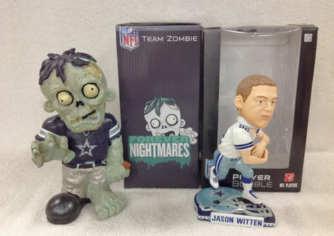 Jason Witten Bobblehead and Dallas Cowboys Zombie - BobblesGalore
