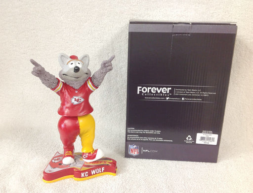 KC Wolf Kansas City Chiefs Mascot Bobblehead - BobblesGalore