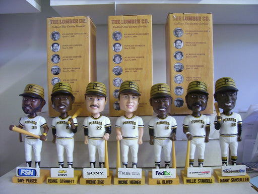 Pittsburgh Pirates Lumber Company Set of 7 Bobbleheads - BobblesGalore