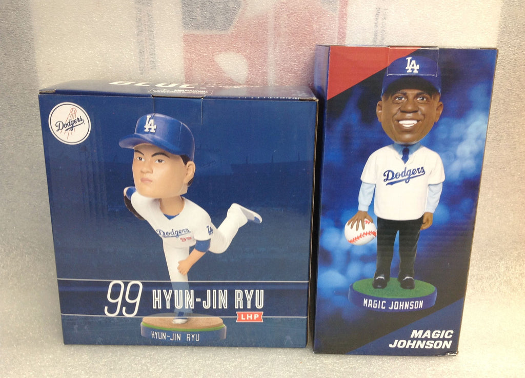 Magic Johnson and Hyun-Jin Ryu Bobblehead Set - BobblesGalore