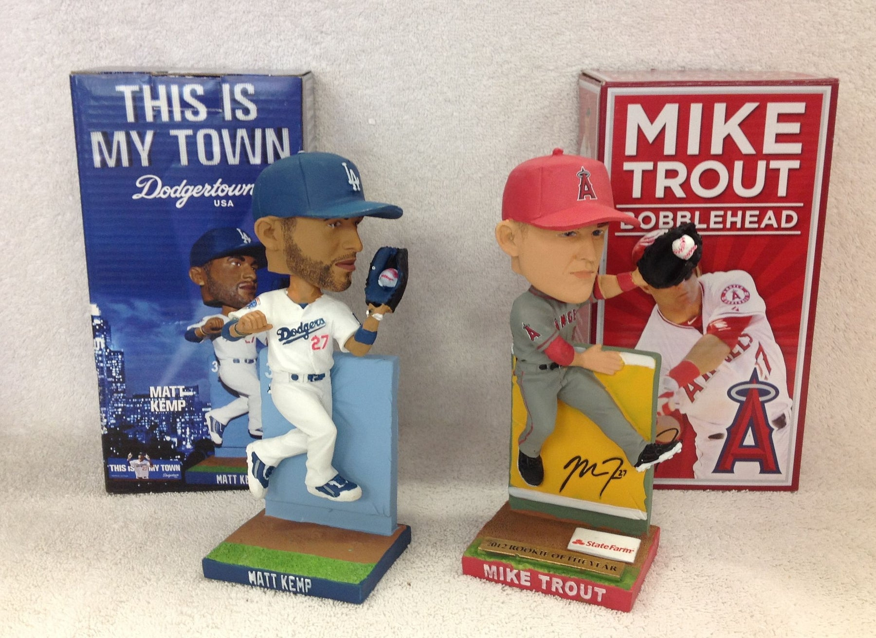 Mike Trout and Matt Kemp Bobblehead Set - BobblesGalore