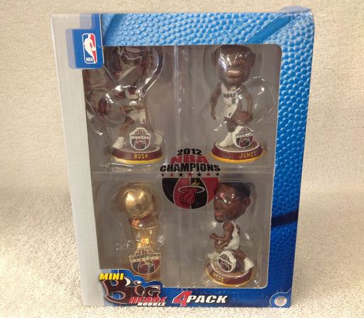 LeBron James Dwyane Wade Chris Bosh NBA Championship Trophy Bobblehead Set - BobblesGalore