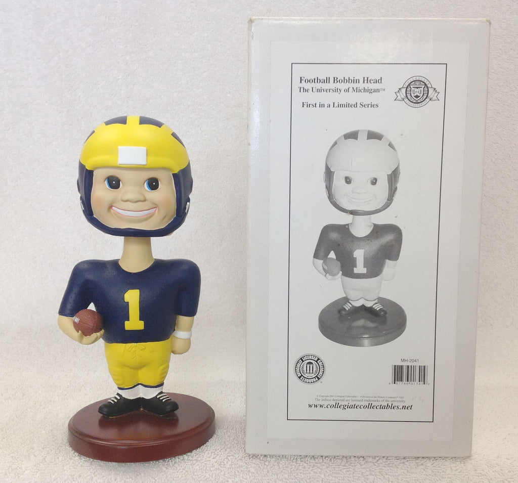 Michigan Wolverines Football Boy Face Bobblehead - BobblesGalore
