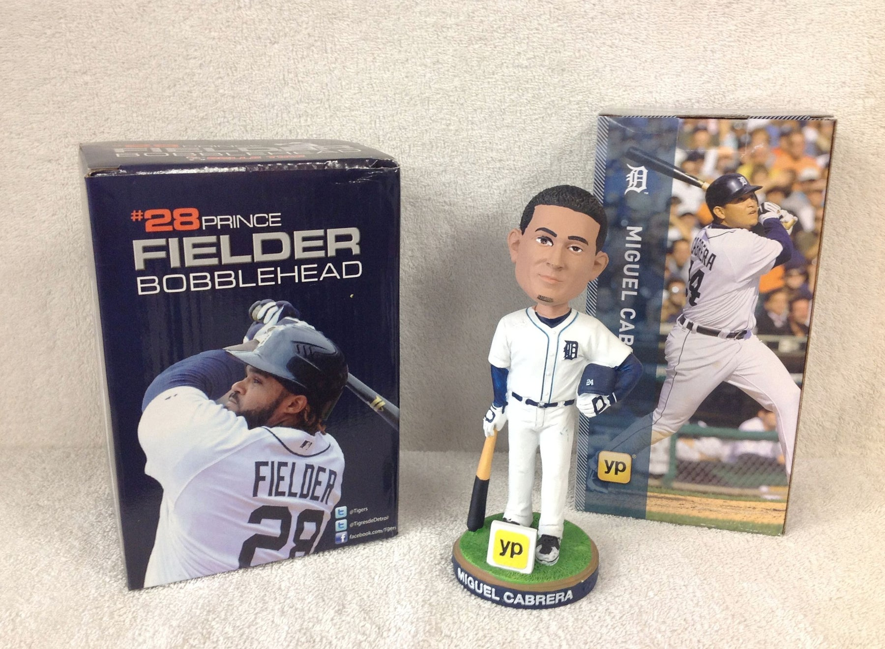 Miguel Cabrera and Prince Fielder Bobblehead Set - BobblesGalore
