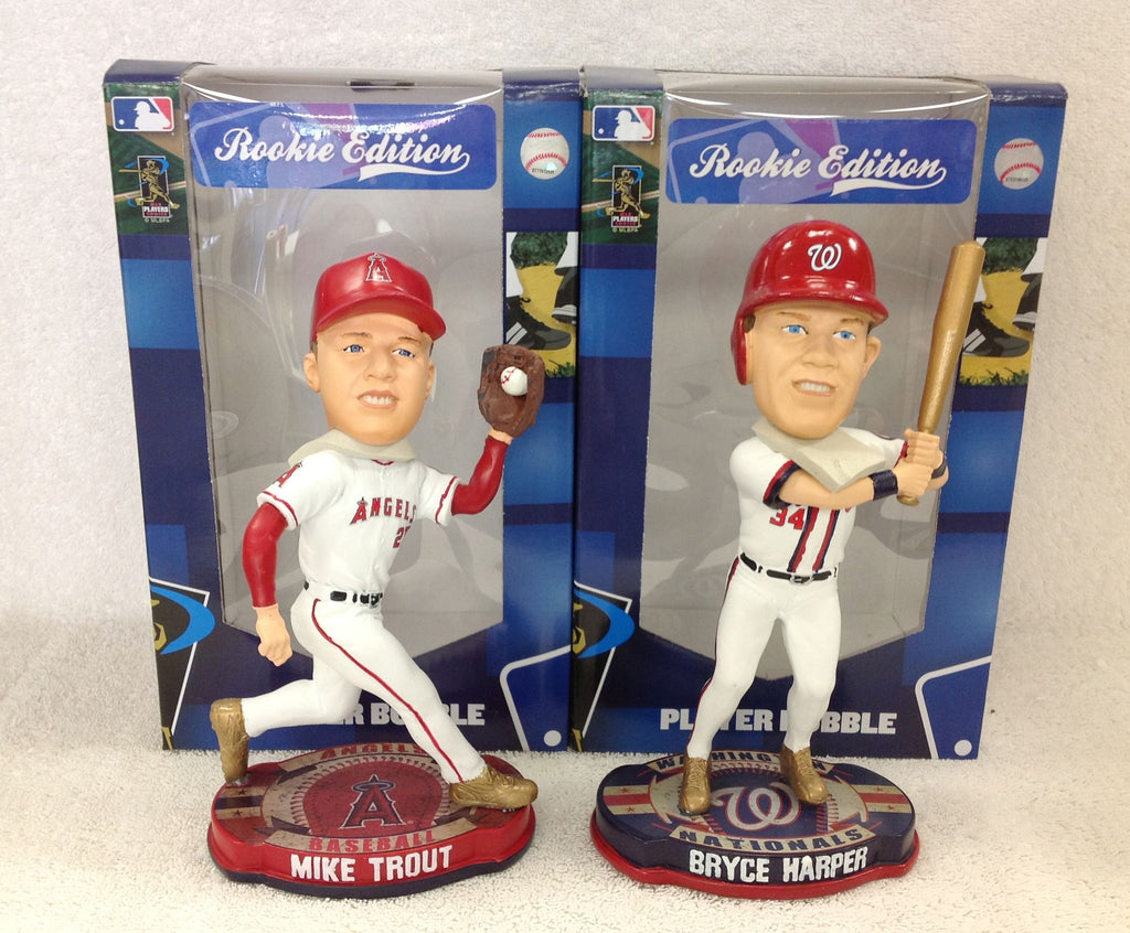 Mike Trout and Bryce Harper Bobblehead Set - BobblesGalore