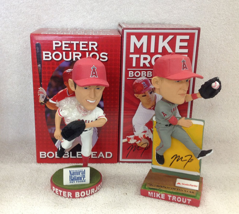 Mike Trout and Peter Bourjos Bobblehead Set - BobblesGalore