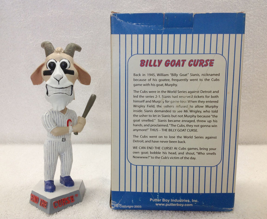 Billy Goat Sianis Reverse the Curse Bobblehead - BobblesGalore