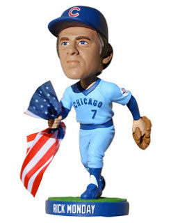 Rick Monday Chicago Cubs / Los Angeles Dodgers Bobblehead - BobblesGalore