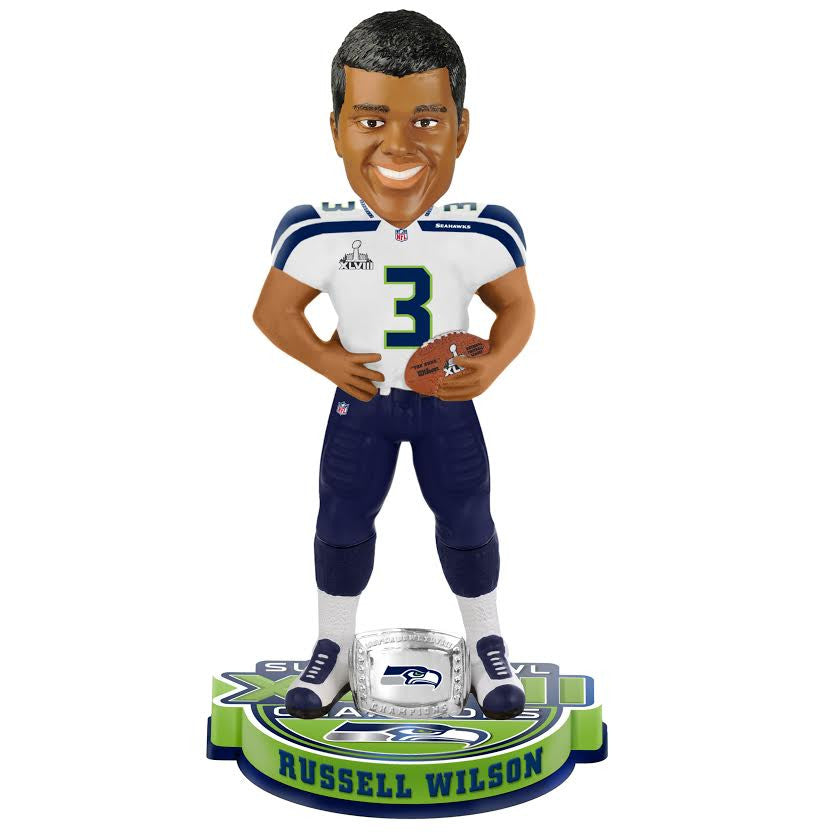 Russell Wilson 3 FOOT Super Bowl Bobblehead - BobblesGalore