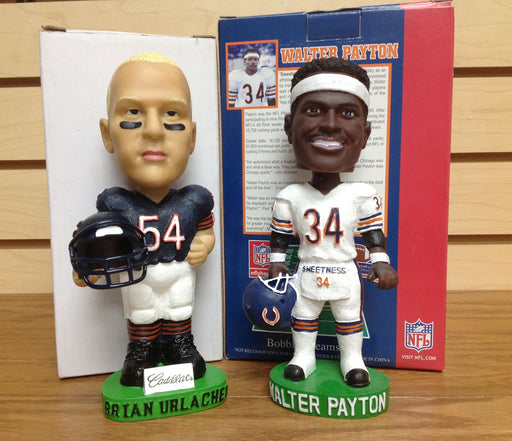Walter Payton and Brian Urlacher Bobblehead Set - BobblesGalore