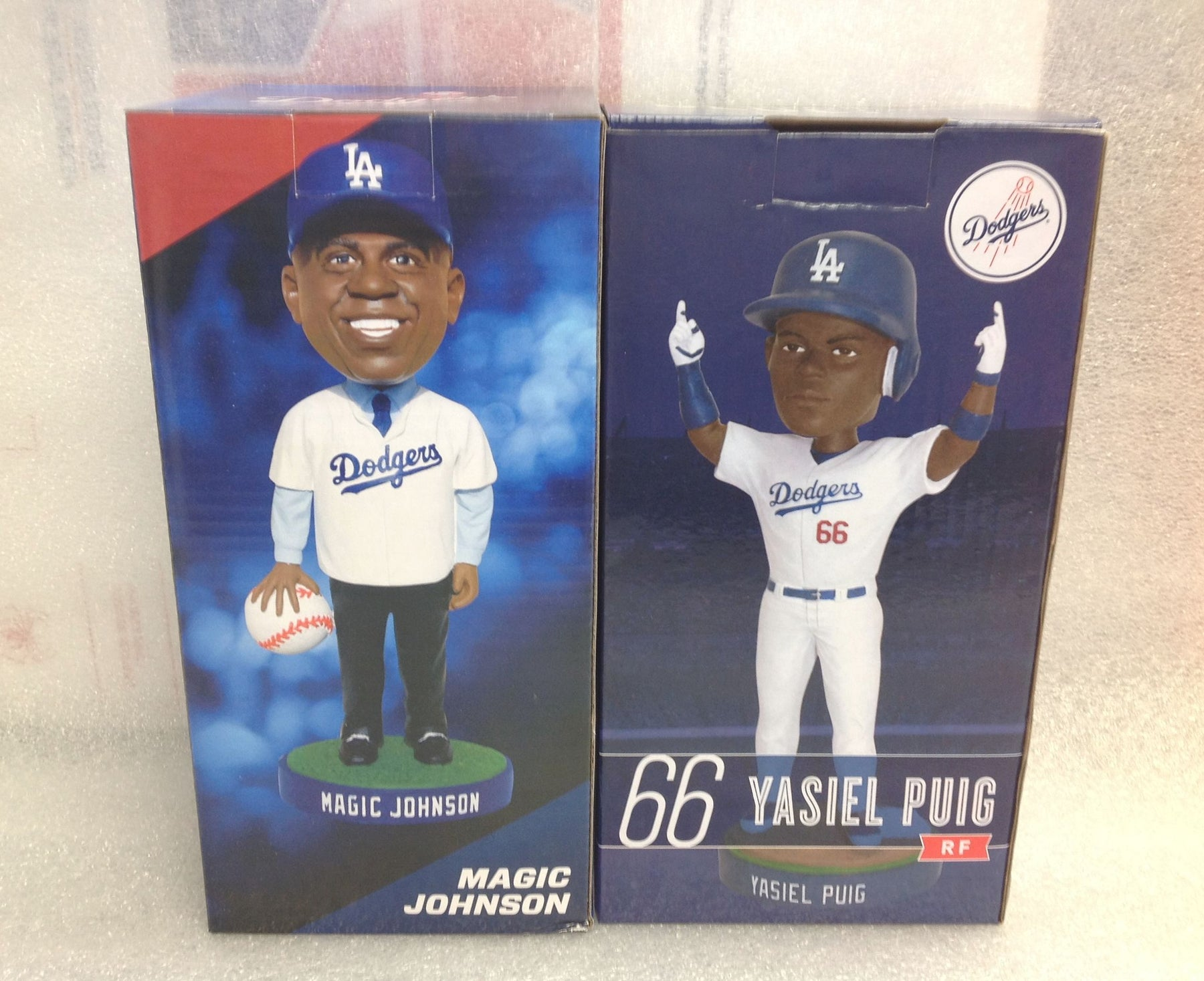 Yasiel Puig and Magic Johnson Bobblehead Set - BobblesGalore