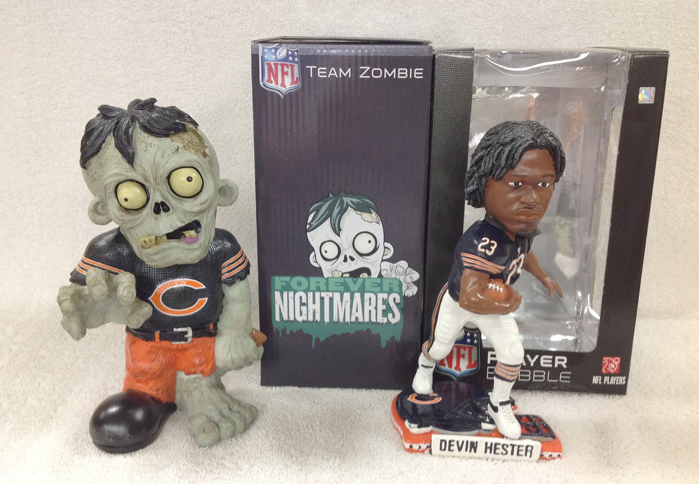 Devin Hester Bobblehead and Chicago Bears Zombie - BobblesGalore