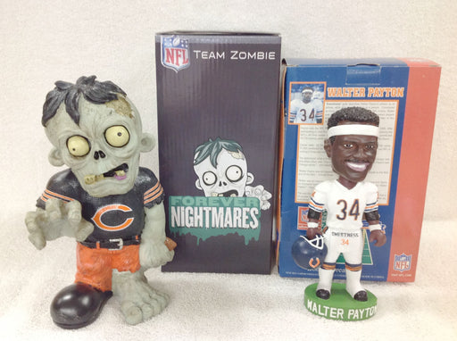 Walter Payton Bobblehead and Chicago Bears Zombie - BobblesGalore