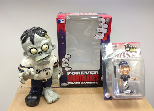 Milwaukee Brewers Zombie and Ryan Braun White Bobblehead - BobblesGalore