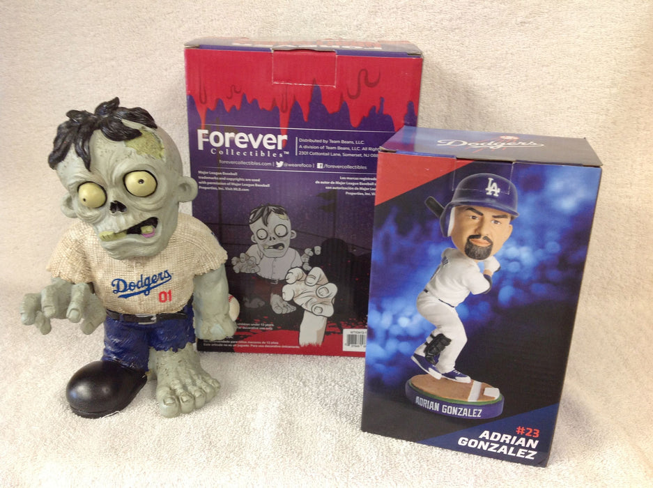 Adrian Gonzalez Bobblehead and Los Angeles Dodgers Zombie - BobblesGalore