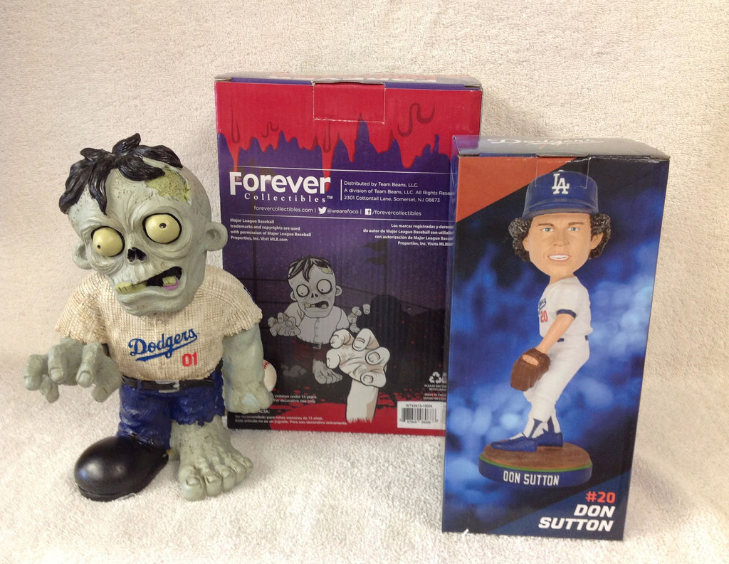Don Sutton Bobblehead and Los Angeles Dodgers Zombie - BobblesGalore