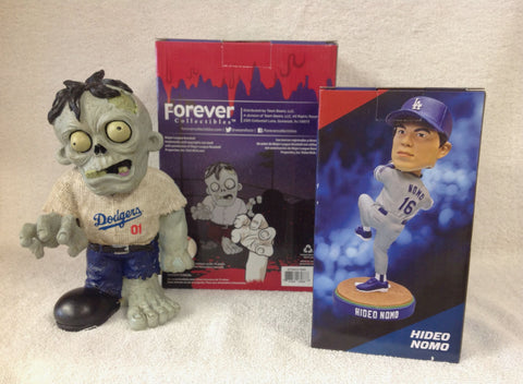 Hideo Nomo Bobblehead and Los Angeles Dodgers Zombie - BobblesGalore
