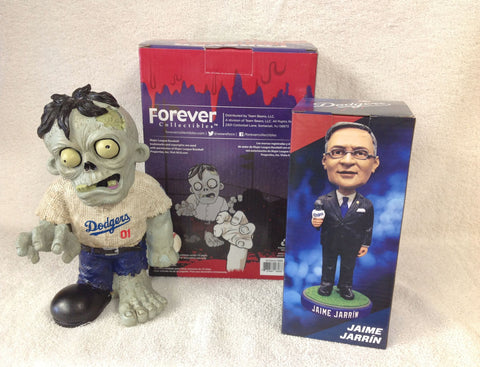 Jaime Jarrin Bobblehead and Los Angeles Dodgers Zombie - BobblesGalore