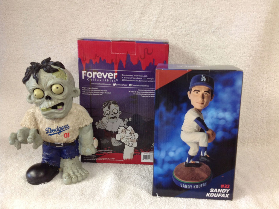 Sandy Koufax Bobblehead and Los Angeles Dodgers Zombie - BobblesGalore