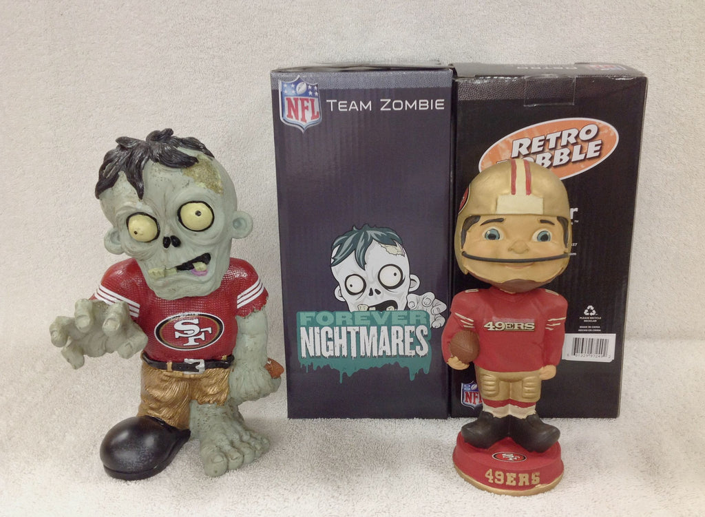 49ers Retro Mascot and 49ers Zombie