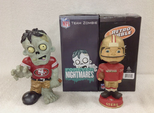 49ers Retro Mascot and 49ers Zombie - BobblesGalore