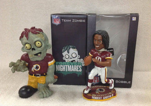 Robert Griffin ROOKIE Bobblehead and Washington Redskins Zombie - BobblesGalore